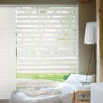 technologie textile DUO, des bandes de tissus, séparées par un voilage